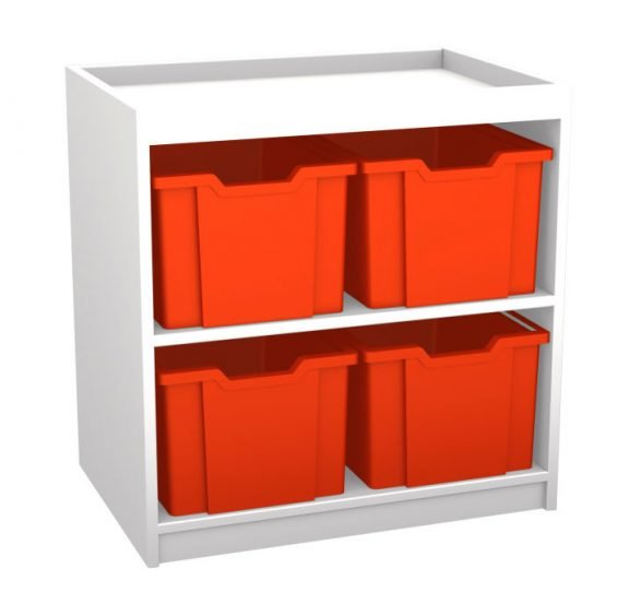 Mexo White and Bright Cube- 4 Drawer