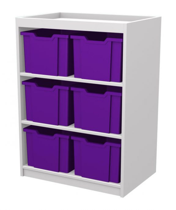 Mexo White and Bright Cube-6 Drawers