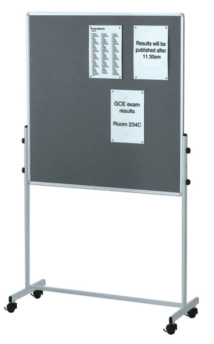 Saturn Mobile Combi Noticeboard and Whiteboard