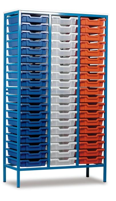 MZ 57 Shallow Tray Static Metal Storage