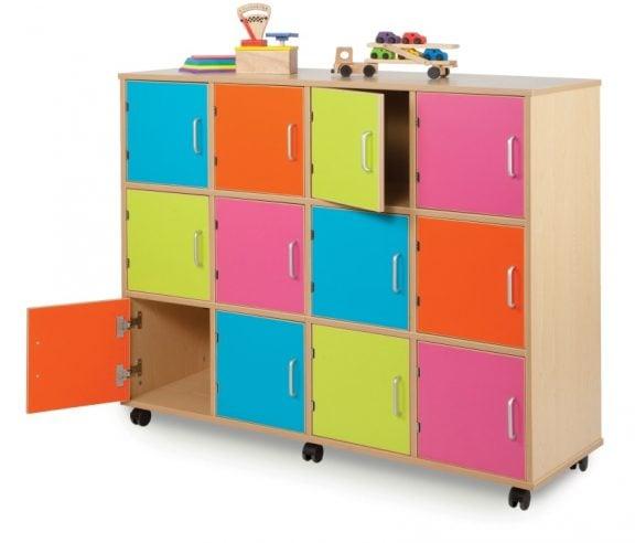 MZ Coloured Cube Lockers