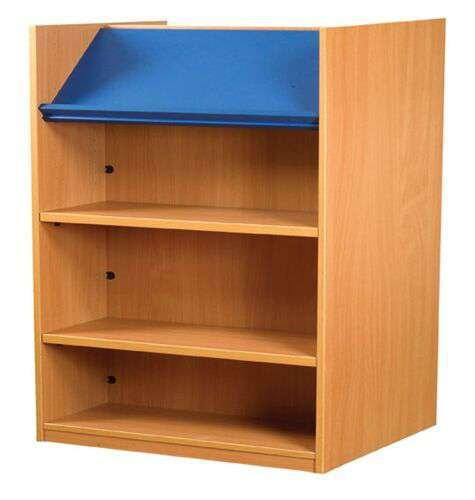 Nexus Double Sided Bookcase with Top Display Shelf