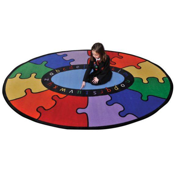 ABC Rainbow Puzzle Learning Rug