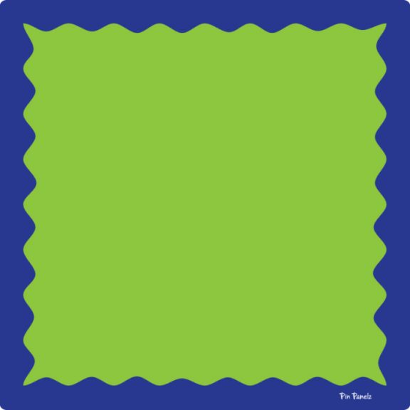 Pin Panelz Primary Green with Blue Border