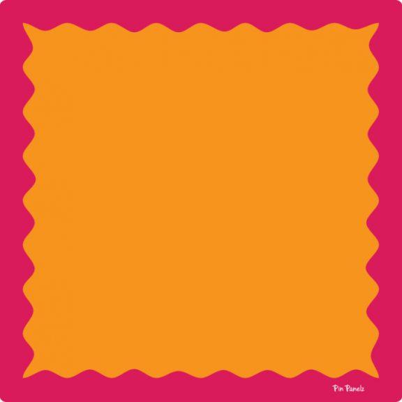 Pin Panelz Primary Orange with Red Border