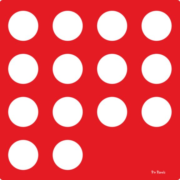 Pin Panelz Red Circles