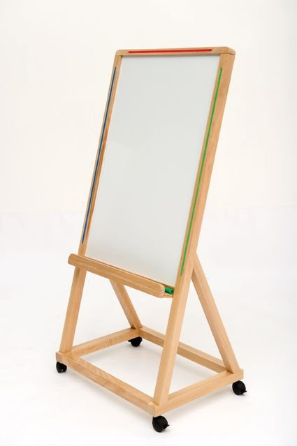 PL Mobile Wood Frame Whiteboard