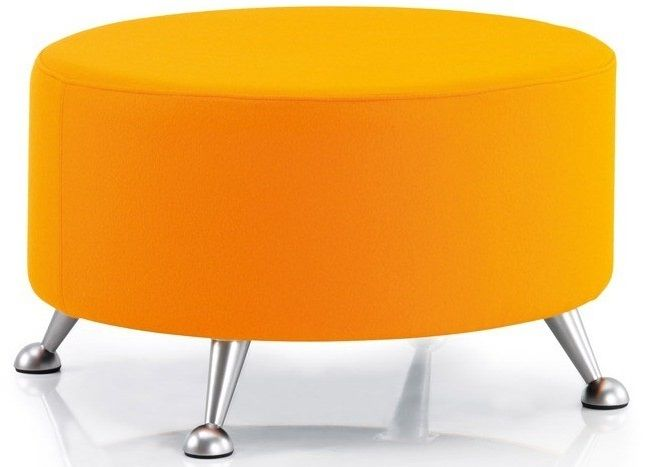Quiggly Circular Stool with Brushed Chrome Legs