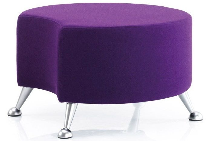 Quiggly Circular Stool with Legs and Single Cut-Out