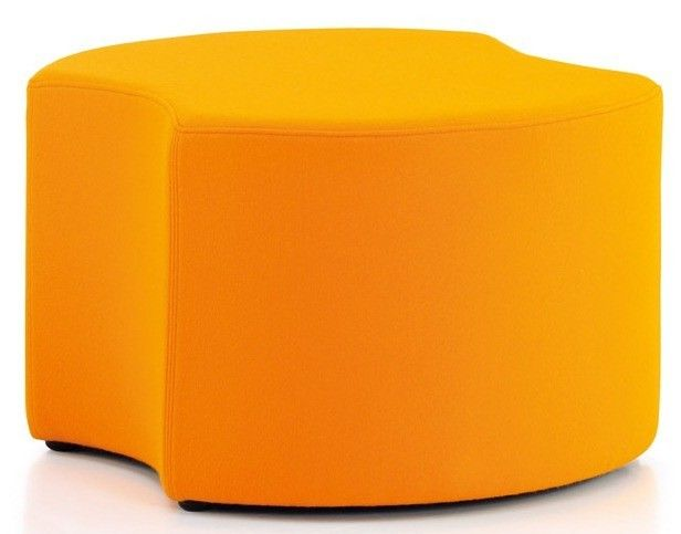 Quiggly Circular Stool without Legs and Double Cut-Out