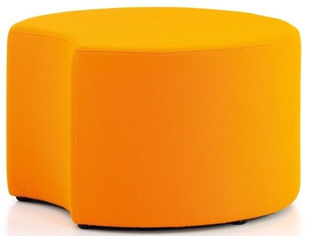 Quiggly Circular Stool without Legs and Single Cut-Out