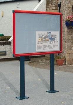 Shield Post Mounted Lockable Outdoor Noticeboard