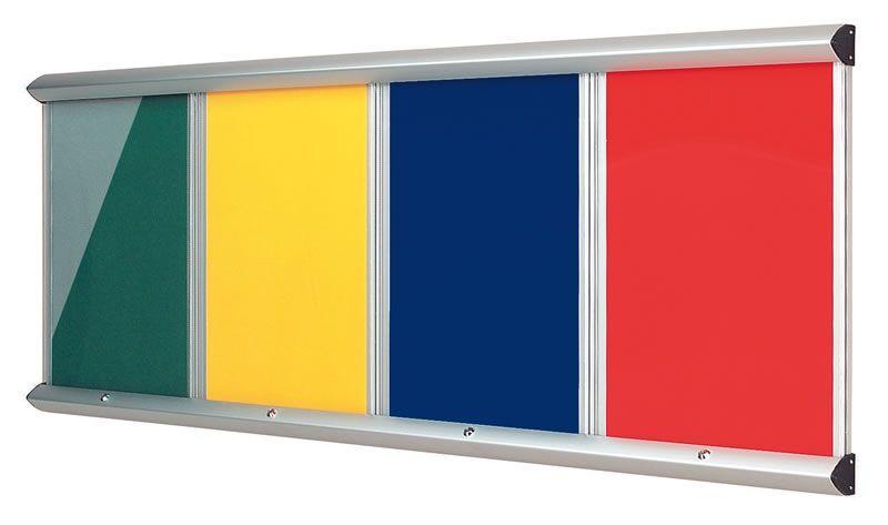 Shield Showline Fire Resistant Multi-bank Noticeboards