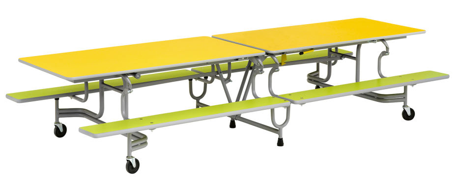 Simplo 10ft Mobile Folding Bench Table