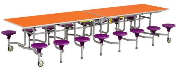 Simplo 16 Person Dining Seat Unit (Kindergarten)
