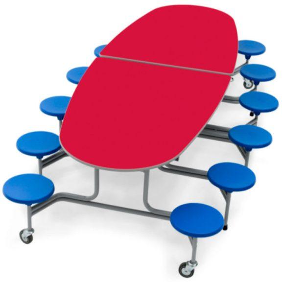 Simplo Communication 12 Stool Table Seating Unit
