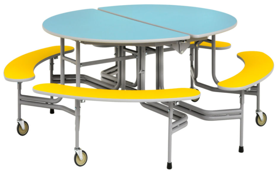 Simplo Oval Graduate Table Seating Unit with Benches