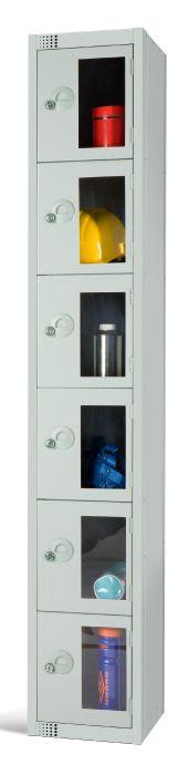 Six Door Locker with Vision Panels