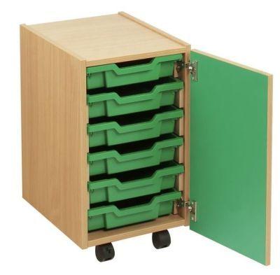 Smartie 6 Mobile Classroom Storage Cupboard