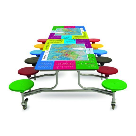 Space Smart Top Folding Table Seating Unit- 12 Seats