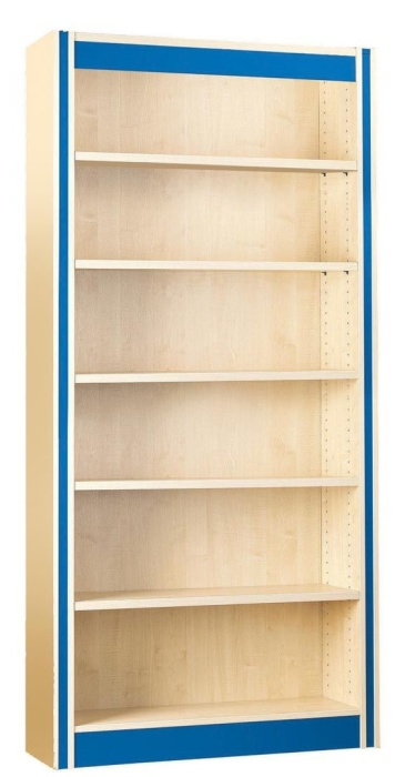 Spectrum Single Sided Bookshelf with Flat Shelves