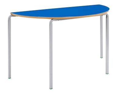 MS Crush Bent Stackable Half Moon Classroom Table