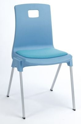 Stylus Poly Education Chair with Seat Pad