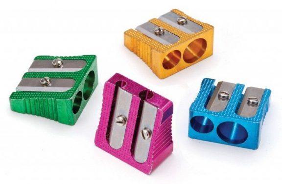 Swash Coloured Metal Double Hole Sharpener