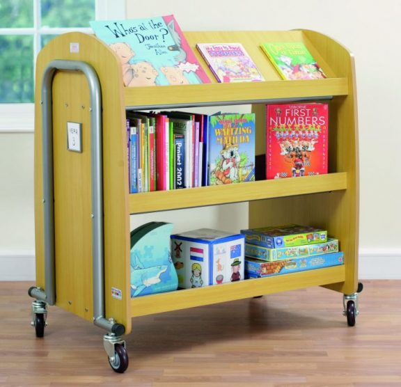 Tuf 2 Library Trolley and Display Shelf