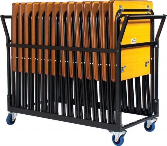 Disport 24 Premium Exam Desks & Upright Trolley