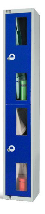 Two Door Locker with Vision Panels 300mm Deep
