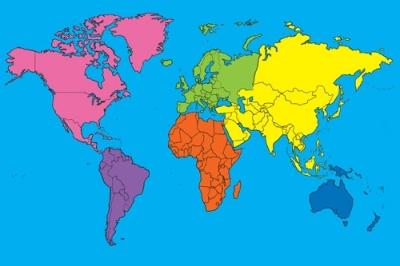 World Continents Mat