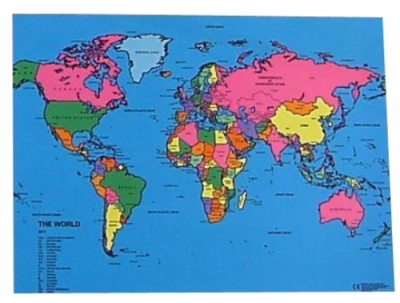 World Map Cloth