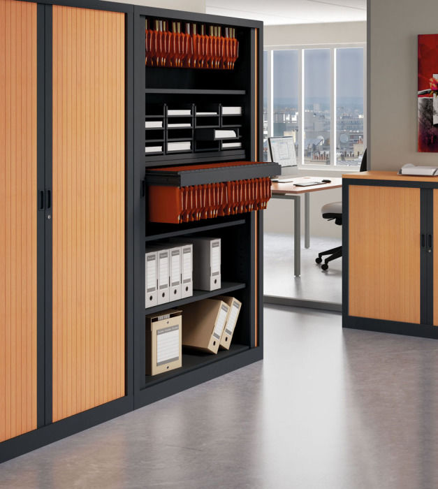 XFit Two Tone Tambour Cabinets